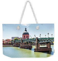 Weekender Tote Bag featuring the photograph Saint-pierre Bridge In Toulouse by Elena Elisseeva
