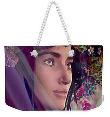 Weekender Tote Bag featuring the painting Saint Rose Of Lima 4 by Suzanne Silvir