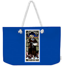 Weekender Tote Bag featuring the photograph Saint William Of Aquitaine Stained Glass Window by Rose Santuci-Sofranko