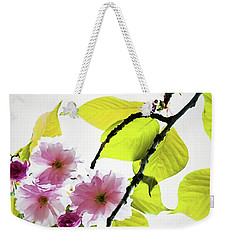 Weekender Tote Bag featuring the photograph Sakura by Jessica Manelis