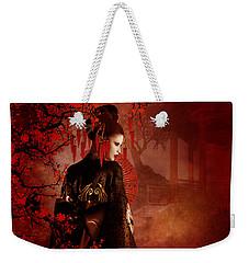 Sakura Red Weekender Tote Bag