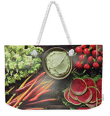 Weekender Tote Bag featuring the photograph Salad Legume Vegetables Healthy Food Cuisine Chef Kitchen Christmas Holidays Birthday Mom Dad Sister by Navin Joshi