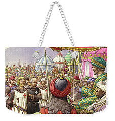 Saladin Orders The Execution Of Knights Templars And Hospitallers  Weekender Tote Bag by Pat Nicolle