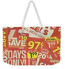 Sale Clippings Weekender Tote Bag