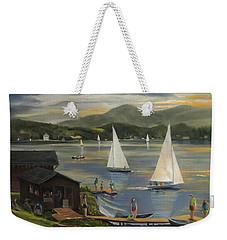 Sailing At Lake Morey Vermont Weekender Tote Bag