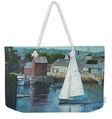 Saling In Rockport Ma Weekender Tote Bag