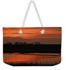 Salmon Colored Slough Weekender Tote Bag