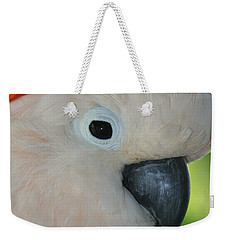 Salmon Crested Moluccan Cockatoo Weekender Tote Bag by Sharon Mau