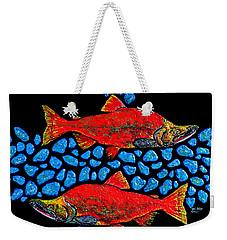 Salmon Weekender Tote Bag