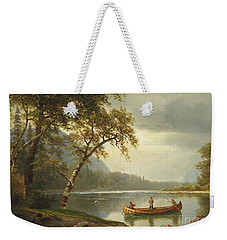 Salmon Fishing On The Caspapediac River Weekender Tote Bag