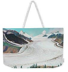 Salmon Glacier, Frozen Motion Weekender Tote Bag