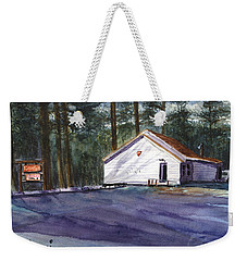 Weekender Tote Bag featuring the painting Salmon River Grange by Chriss Pagani