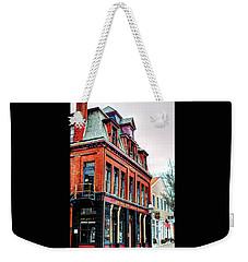 Weekender Tote Bag featuring the photograph Saloon Bristol Ri by Tom Prendergast