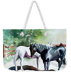 Salt And Pepper Horses Weekender Tote Bag