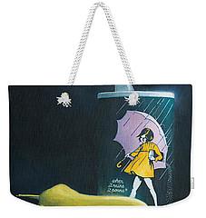 Weekender Tote Bag featuring the painting Salt And Pepper by Joe Winkler