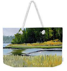 Weekender Tote Bag featuring the painting Salt Creek by Nancy Merkle