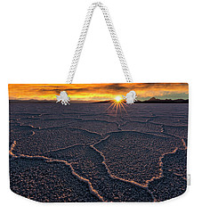 Salt Flats Sunset Weekender Tote Bag