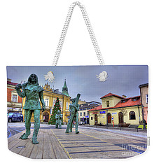 Weekender Tote Bag featuring the photograph Salt Miners Of Wieliczka, Poland by Juli Scalzi