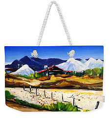 Weekender Tote Bag featuring the painting Salt Works - Port Alma by Therese Alcorn