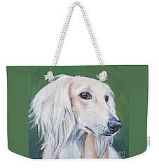 Saluki Sighthound Weekender Tote Bag by Lee Ann Shepard
