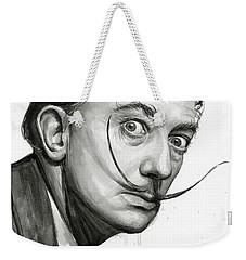 Salvador Dali Portrait Black And White Watercolor Weekender Tote Bag