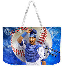 Salvador Perez 2015 World Series Mvp Weekender Tote Bag by Colleen Taylor