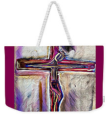 Weekender Tote Bag featuring the mixed media Salvation by Jessica Eli