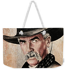 Sam Elliot The Lone Rider Sepia Weekender Tote Bag