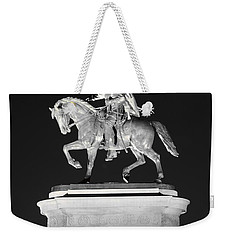 Sam Houston - Black And White Weekender Tote Bag