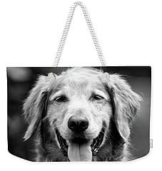 Sam Smiling Weekender Tote Bag by Julie Niemela