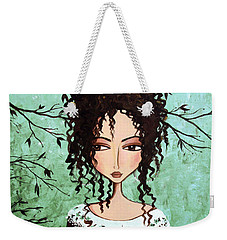 Samantha's Chocolate Tree Weekender Tote Bag by Debbie Horton