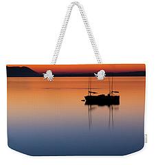Samish Sea Sunset Weekender Tote Bag