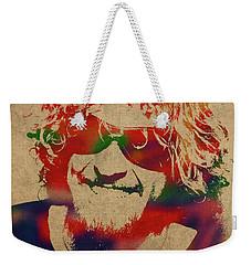 Sammy Hagar Van Halen Watercolor Portrait Weekender Tote Bag