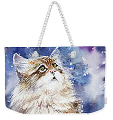 Sammy On Snow Weekender Tote Bag