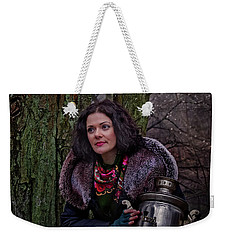 Samovar And Forest Fairy Weekender Tote Bag by Agnieszka Mlicka