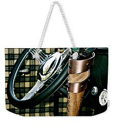 Weekender Tote Bag featuring the photograph Samual Adams Winter Lager by Linda Bianic