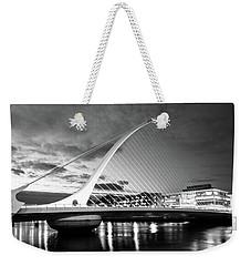 Samuel Beckett Bridge In Bw Weekender Tote Bag