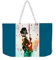 Samurai Girl - Watercolor Painting Weekender Tote Bag
