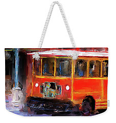 San Antonio 5 Oclock Trolley Weekender Tote Bag