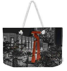 San Antonio La Antorcha De La Amistad Sculpture In Selective Color Weekender Tote Bag