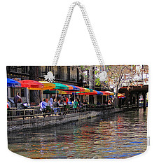 San Antonio Riverwalk Weekender Tote Bag by Angela Murdock