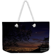 San Bernardino Twilight Hour Weekender Tote Bag by Angela J Wright