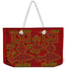 Weekender Tote Bag featuring the digital art San Blas Shaman Spirits by Vagabond Folk Art - Virginia Vivier