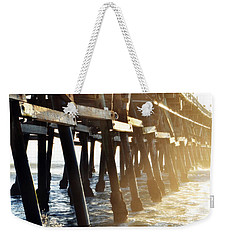Weekender Tote Bag featuring the photograph San Clemente Pier Magic Hour by Kyle Hanson