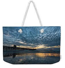 San Clemente Pier Sunset Weekender Tote Bag