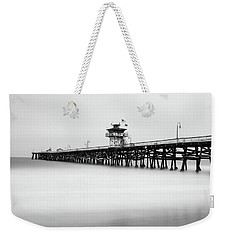 Weekender Tote Bag featuring the photograph San Clemente Pier by Tassanee Angiolillo