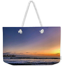 Weekender Tote Bag featuring the photograph San Clemente Sunset by Brian Eberly