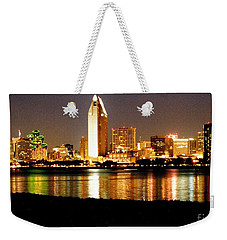 San Diego Skyline With Reflections On Mission Bay Weekender Tote Bag