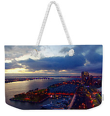 San Diego By Night Weekender Tote Bag