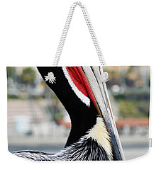 Weekender Tote Bag featuring the photograph San Diego Pelican by Kyle Hanson